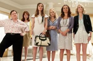 Rose-Byrne-Melissa-McCarthy-Maya-Rudolph-Wendi-McLendon-Covey-Kristen-Wiig-and-Ellie-Kemper-in-Bridesmaids-Movie-2011